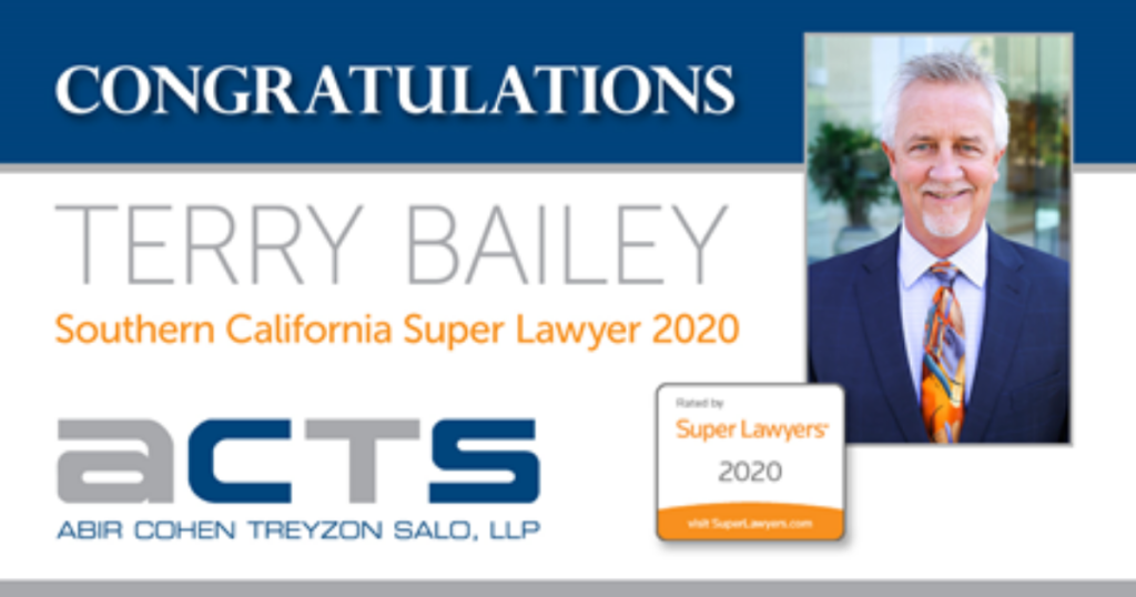 Attorney Terry Bailey Selected to Super Lawyers 2020