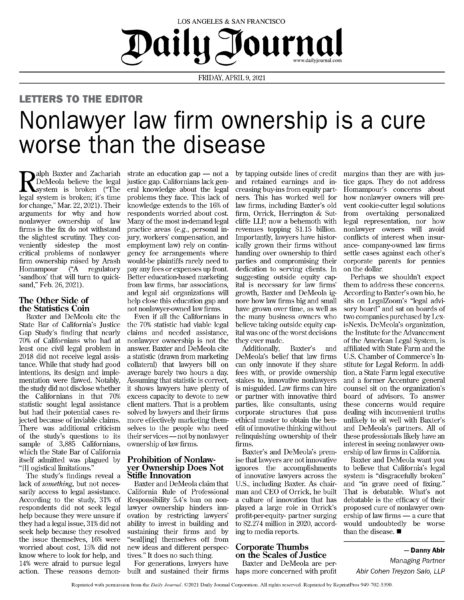 Nonlawyer Firm Ownership